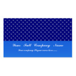 Attractive light blue stars on rough blue surface business card template