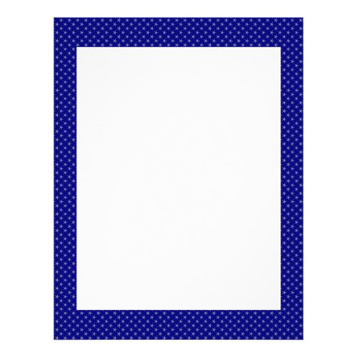 Attractive light blue stars on rough blue surface letterhead design