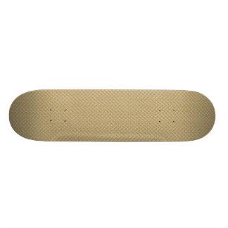 Attractive light brown damask pattern on brown sur skate board