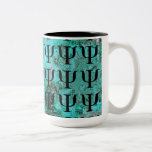 Attractive Marbled Turquoise Psychology Mug