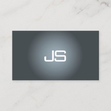 Attractive Monogram Modern Simple Professional Business Card