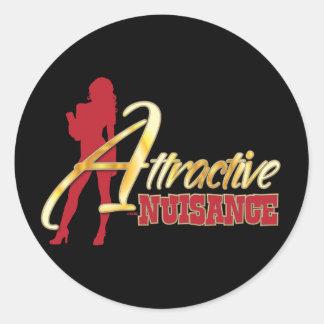 Attractive Nuisance Classic Round Sticker
