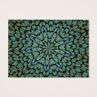Attractive Peacock Feathers Kaleidoscope Business Card