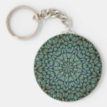 Attractive Peacock Feathers Kaleidoscope Key Chains