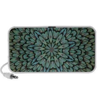 Attractive Peacock Feathers Kaleidoscope Notebook Speaker