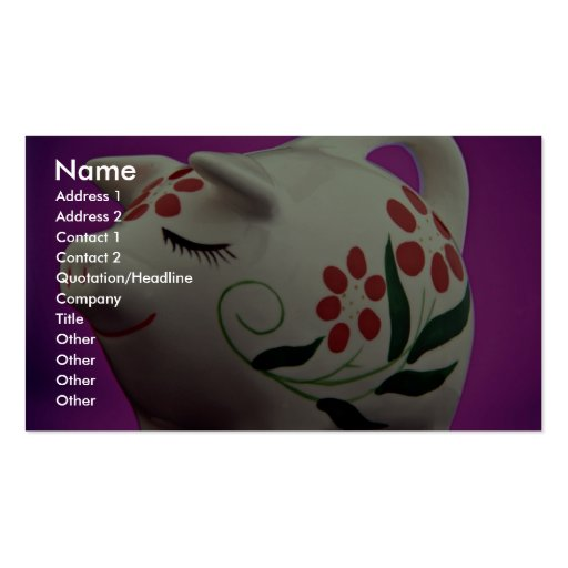 Attractive piggy bank business card zazzle for Us bank business card