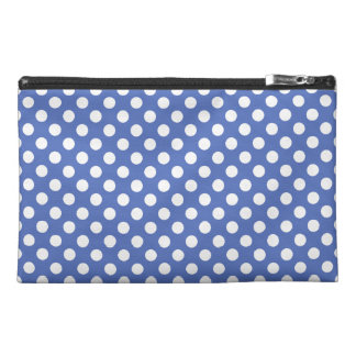 Attractive Polka Dot Pattern On a Teal Blue Travel Accessory Bag