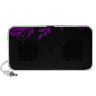 Attractive purple floral special gift portable speaker
