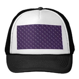 Attractive purple leafy plant on retro light purpl trucker hat