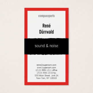 Attractive red business card