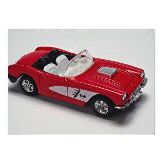 Attractive red Corvette 5x7 Paper Invitation Card