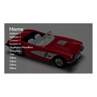 Attractive red Corvette Business Card Template