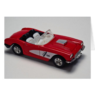 Attractive red Corvette Greeting Card