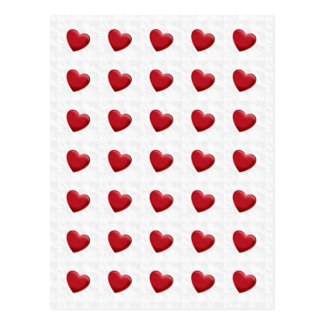 Attractive Red Hearts Grey Pop Art Love Postcard