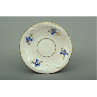 Attractive saucer plate with flower design standing photo sculpture