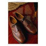 Attractive shoes for gentlemen greeting card