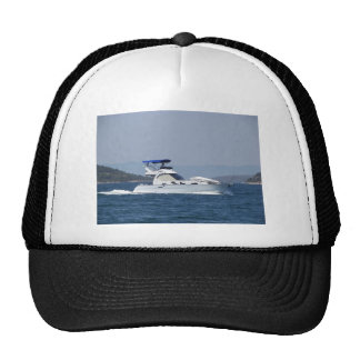 Attractive Small Motorboat Trucker Hat