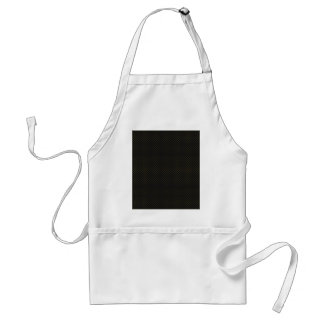 Attractive tiny light brown damask pattern on blac adult apron
