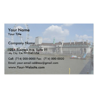 Attractive View Of London Eye Double-Sided Standard Business Cards (Pack Of 100)