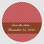 Attractive white stars on rough red surface classic round sticker