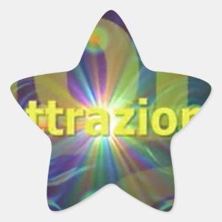 Attrazione Pegatina En Forma De Estrella