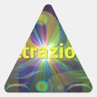 Attrazione Pegatina Triangular