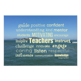 Attributes of a Great Teacher Word Collage Poster