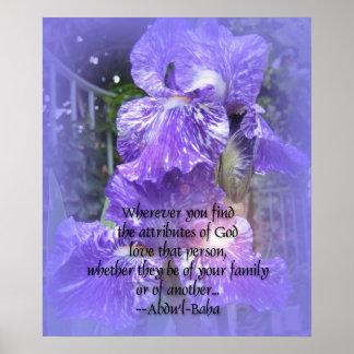 Attributes of God Baha i Print Poster