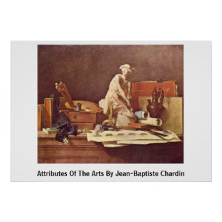 Attributes Of The Arts By Jean-Baptiste Chardin Print