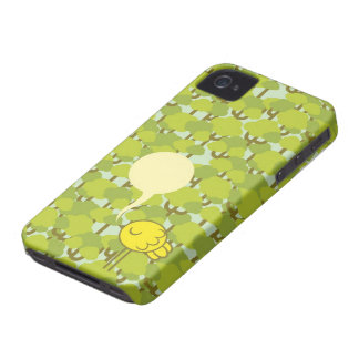 attweetude with speech bubble for custom message iPhone 4 Case-Mate case