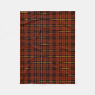 Atum orange plaid black/yellow/gold fleece blanket