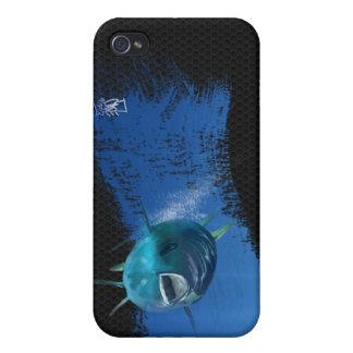 Atún azul de la aleta iPhone 4/4S fundas
