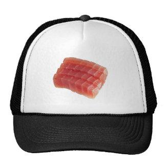 Atún de bluefin crudo cortado gorras