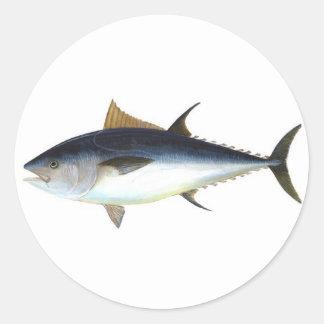Atún de Bluefin Pegatina Redonda