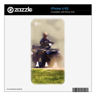 ATV All Terrain Vehicle & Driver in the Dust iPhone 4S Skin