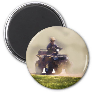 ATV All Terrain Vehicle & Driver in the Dust Magnet