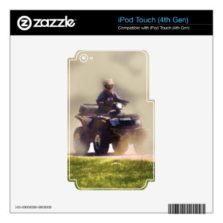 ATV All Terrain Vehicle & Driver in the Dust Skins For iPod Touch 4G