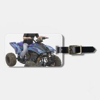 ATV Blue Mud Rider Bag Tag