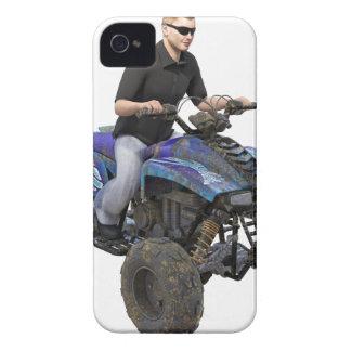 ATV Blue Mud Rider iPhone 4 Cover