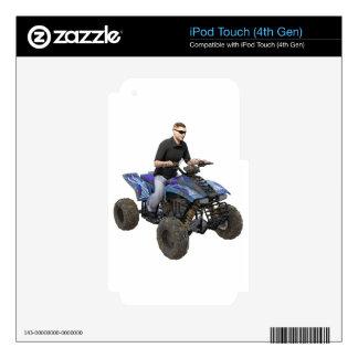 ATV Blue Mud Rider iPod Touch 4G Skin
