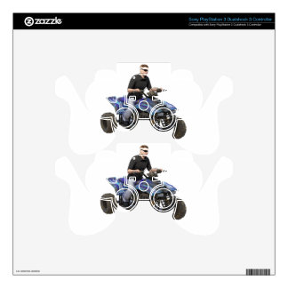 ATV Blue Mud Rider Skins For PS3 Controllers