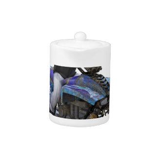 ATV Blue Mud Rider Teapot