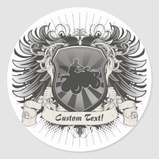 ATV Crest Classic Round Sticker