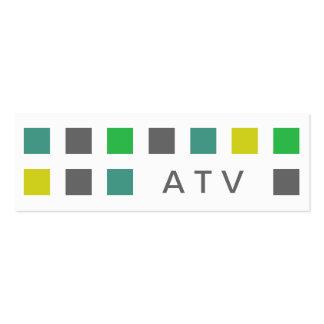 ATV (cuadrados de la MOD) Tarjetas Personales
