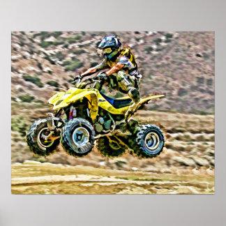 ATV del funcionamiento del camino Póster