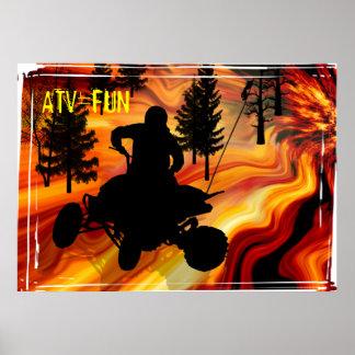 ATV en el camino del infierno Poster