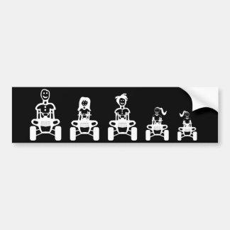 ATV Family Stick Figure Bumper Stickers