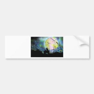 ATV Four Wheeler Space Landscape Spray Paint Art Bumper Sticker