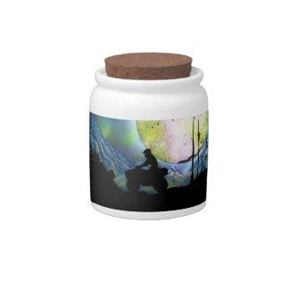 ATV Four Wheeler Space Landscape Spray Paint Art Candy Jar