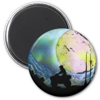 ATV Four Wheeler Space Landscape Spray Paint Art Magnet